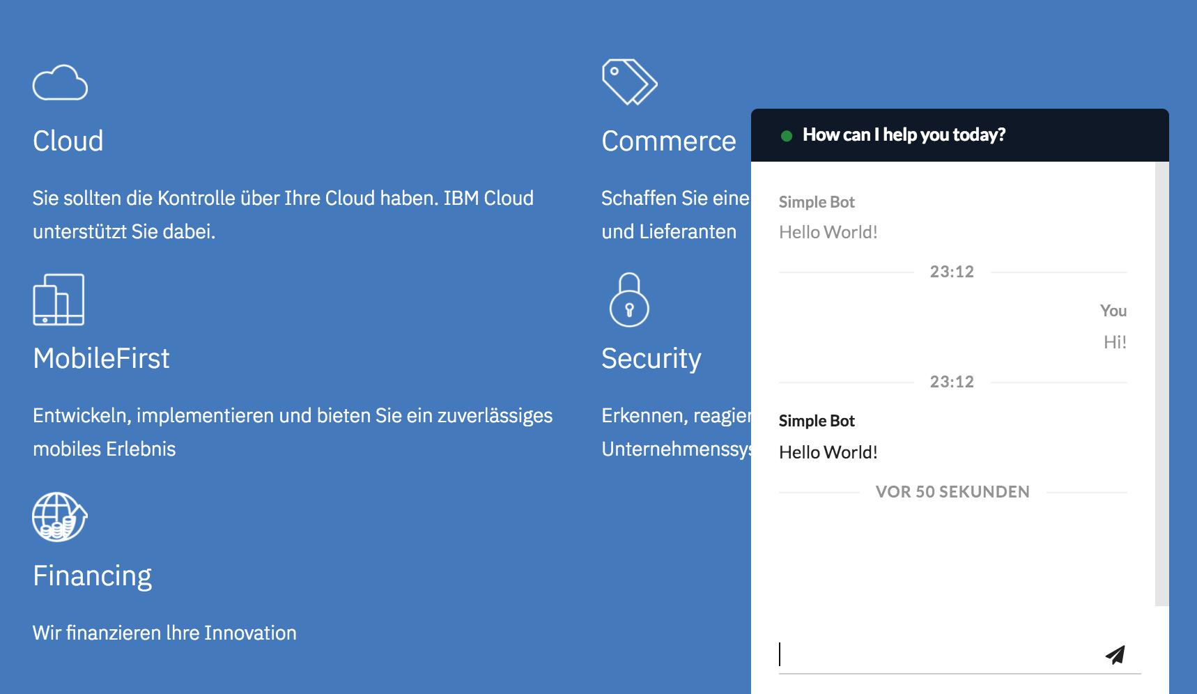 Getting Started · OpenWhisk Chatbot Framework